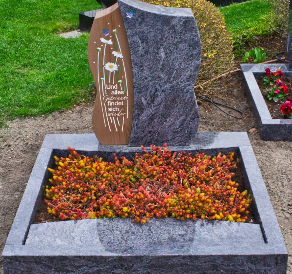Urnengrabstein Irokko mit Orion poliert und Symbolik